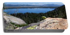 Portable Battery Charger featuring the photograph You Can Make It. Inspiration Point by Ausra Huntington nee Paulauskaite