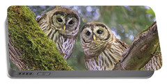 Young Barred Owlets  Portable Battery Charger