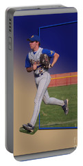 Young Baseball Athlete Portable Battery Charger