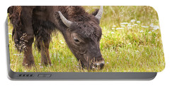 Young Bison Portable Battery Charger by Belinda Greb