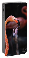 Young Flamingo Feeding Portable Battery Charger