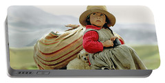 Young Girl In Peru Portable Battery Charger