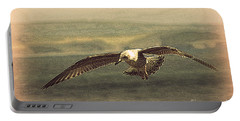 Young Gull Portable Battery Charger by Linsey Williams