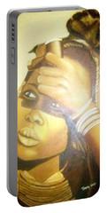 Young Himba Girl - Original Artwork Portable Battery Charger