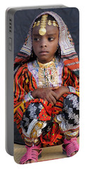 Young Omani Girl Portable Battery Charger by Debi Demetrion
