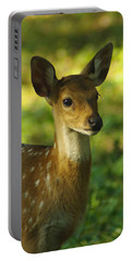 Young Spotted Deer Portable Battery Charger by Jacqi Elmslie