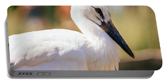 Young Stork Portrait Portable Battery Charger by Pati Photography