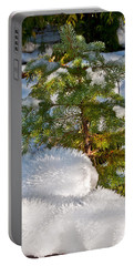 Young Winter Pine Portable Battery Charger by Tikvah's Hope