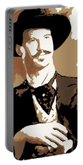 Portable Battery Charger featuring the painting Your Huckleberry by Dale Loos Jr