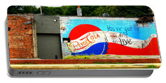 You've Got A Life To Live Pepsi Cola Wall Mural Portable Battery Charger by Kathy Barney