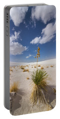 Yucca Growing On Dune In White Sands N Portable Battery Charger