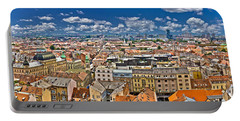 Zagreb Lower Town Colorful Panoramic View Portable Battery Charger