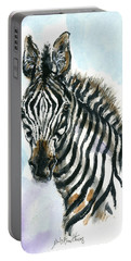 Zebra 1 Portable Battery Charger by Mary Armstrong