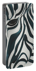 Portable Battery Charger featuring the painting Zebra by Aliya Michelle