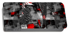 Zebra Art - 56a Portable Battery Charger by Variance Collections