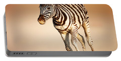 Zebra Calf Running Portable Battery Charger