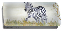 Zebra Family Portable Battery Charger by Laurel Best