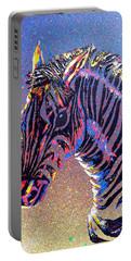 Zebra Fantasy Portable Battery Charger by Mayhem Mediums