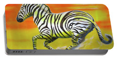 Zebra Kicking Up Dust Portable Battery Charger