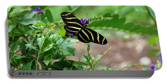 Zebra Longwing Butterfly Floral Portable Battery Charger