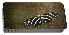 Zebra Longwing  Butterfly-1 Portable Battery Charger