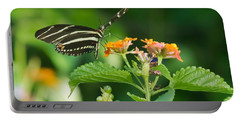 Portable Battery Charger featuring the photograph Zebra Longwing by Jane Luxton