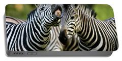 Zebra Showing Its Teeth, Equus Quagga Portable Battery Charger
