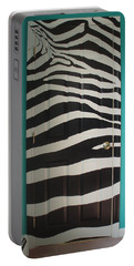 Zebra Stripe Mural - Door Number 2 Portable Battery Charger by Sean Connolly