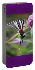 Zebra Swallowtail Butterfly On Butterfly Bush  Portable Battery Charger