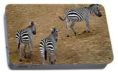 Portable Battery Charger featuring the photograph Zebra Tails by AJ  Schibig