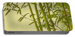 Zen Bamboo Abstract I Portable Battery Charger by Marianne Campolongo