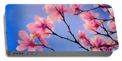 Cherry Blossums In Digital Watercolor Portable Battery Charger
