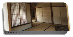Zen Meditation Room And Katomado Window - Kyoto Japan Portable Battery Charger