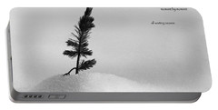 Portable Battery Charger featuring the photograph Zen Wisdom Stillness by Peter v Quenter