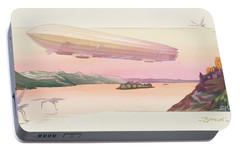 Zeppelin, Published Paris, 1914 Portable Battery Charger by Ernest Montaut