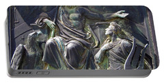 Portable Battery Charger featuring the photograph Zeus Bronze Statue Dresden Opera House by Jordan Blackstone