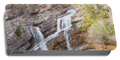 Portable Battery Charger featuring the photograph Zigzag Waterfall by John M Bailey