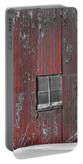 Zink Rd Barn Window Bw Red Portable Battery Charger