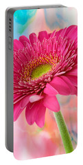 Gerbera Daisy Abstract Portable Battery Charger by James Hammond