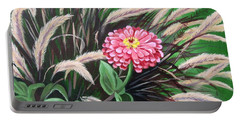 Zinnia Among The Grasses Portable Battery Charger