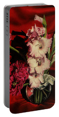 Zinnias And Gladiolas Portable Battery Charger