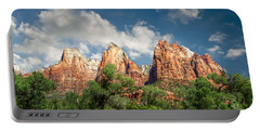 Portable Battery Charger featuring the photograph Zion Court Of The Patriarchs by Tammy Wetzel