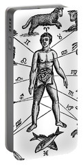 Zodiac Man Drawing Relating Astrology Portable Battery Charger