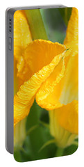 Zucchini Flowers In May Portable Battery Charger by Kume Bryant