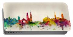 Zurich Switzerland Skyline Portable Battery Charger by Michael Tompsett