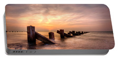 Portable Battery Charger featuring the photograph  Abermaw Sunset by Beverly Cash