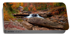 Autumn Leaves At The Mill Portable Battery Charger by Randall Branham