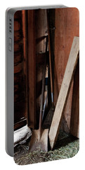 Portable Battery Charger featuring the photograph  Barn Closet by Lorraine Devon Wilke