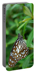 Blue Tiger Butterfly Portable Battery Charger by Eva Kaufman