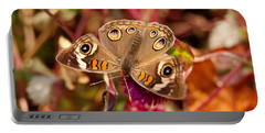Buckeye Butterfly  Portable Battery Charger by Eva Kaufman